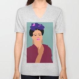 Frida Khalo Flat Graphic Modern Unisex V-Neck
