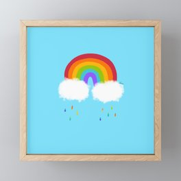 Rainbow Is My Favorite Color Framed Mini Art Print