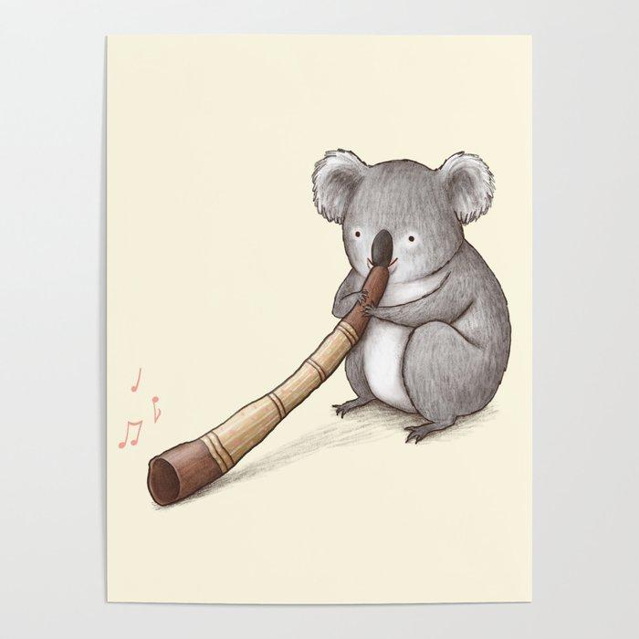 Koala Playing the Didgeridoo