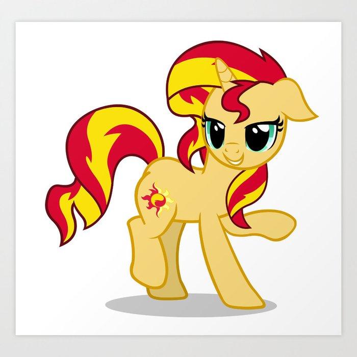 My Little Pony: Sunset Shimmer Art Print by sandwichia   Society6