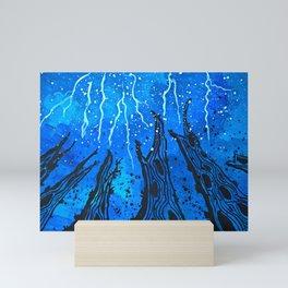 Lightnings and thunder over the forest Mini Art Print