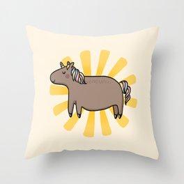 Chubby Unicorn Throw Pillow