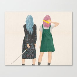 Amie & Callie Canvas Print
