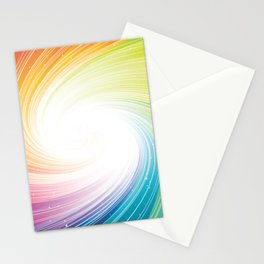 Rainbow background Stationery Cards