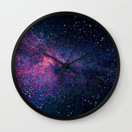 Sparkles Galaxy (Color Boost) Wall Clock
