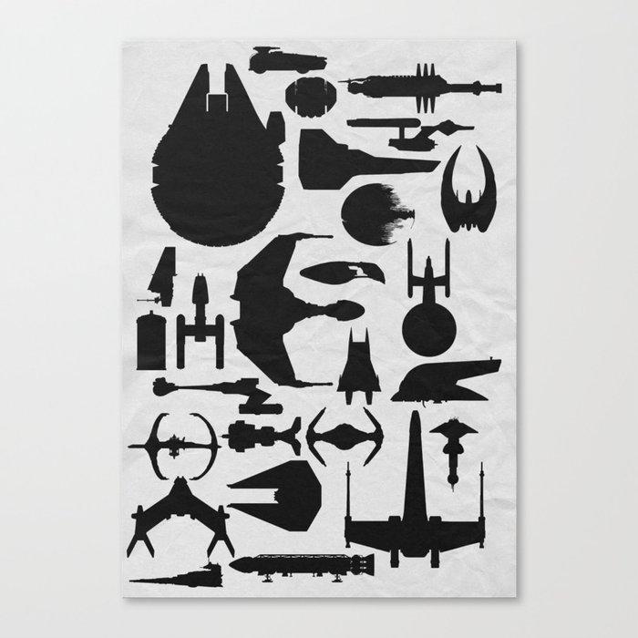 Famous Sci Fi Ships Canvas Print