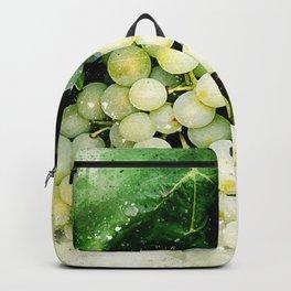 Green Grapes Watercolor Backpack