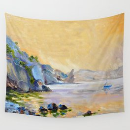 Lonely sailer Wall Tapestry