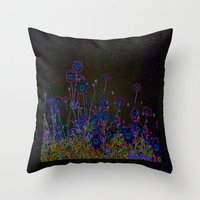 leather Throw Pillows featuring Leather floral by Lydia Cheval