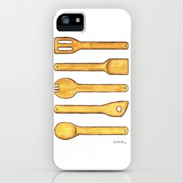 Wooden Kitchen Utensils iPhone Case