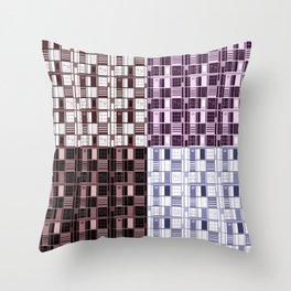 Wine -Cuadricula Throw Pillow