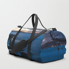 Tardis On The Sea Stone Duffle Bag