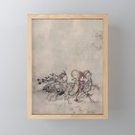 """Midsummer Fairies"" by Arthur Rackham Framed Mini Art Print"