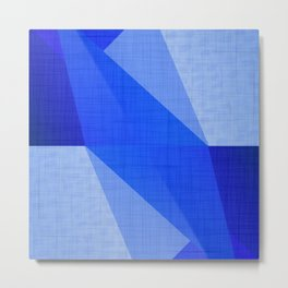 Lapis Lazuli Shapes - Cobalt Blue Abstract Metal Print