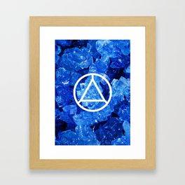 Sapphire Candy Gem Framed Art Print