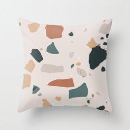 Terrazzo on earth Throw Pillow