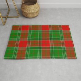 Red and Green Plaid, Tartan, Red and Green Checked Rug