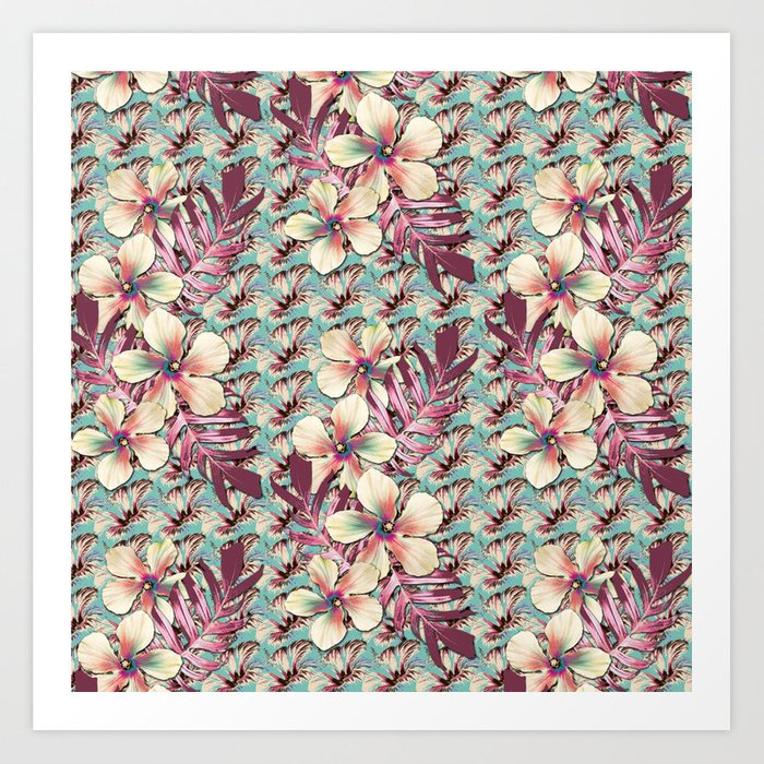 Vintage Hibiscus Ohana Art Print