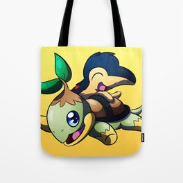 Turtwig and Cyndaquil Tote Bag