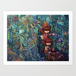 Breakfast Cart Art Print