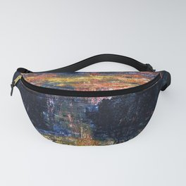 The Domain of Arnheim (colorful sunset on the water) portrait painting by Jeams Ensor Fanny Pack