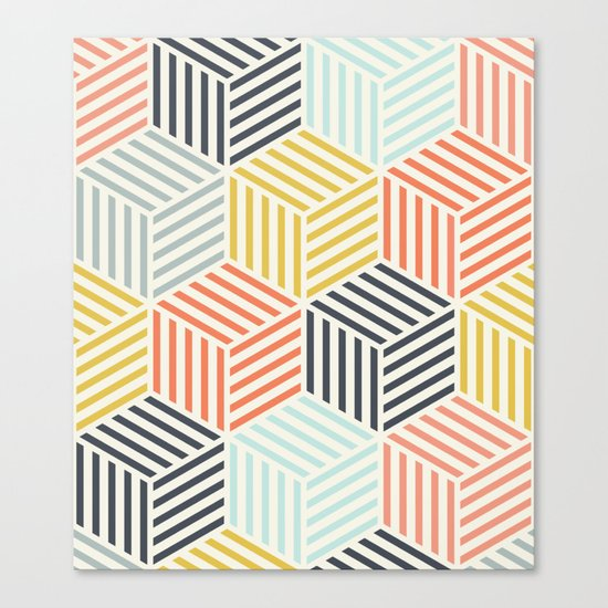 Colorful Geometric Canvas Print
