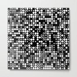 Playful Dots B&W Metal Print