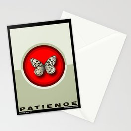 Fruit of the Spirit, Patience (Red & Ecru) Stationery Cards