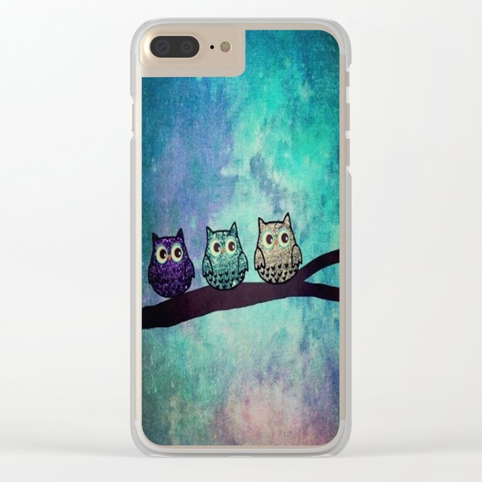 owl-45 Clear iPhone Case