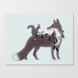Squirrel and Fox Canvas Print