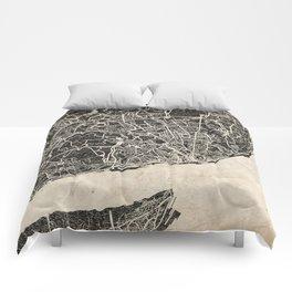 lisbon map ink lines Comforters