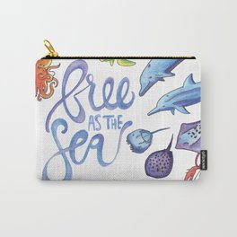 Free as the Sea Carry-All Pouch