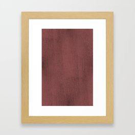 Blush Gold Coppery Pink Gold Metallic Foil Framed Art Print