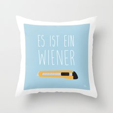 The Wiener Schnitzel Fail Throw Pillow