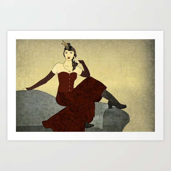Steampunk Chic Art Print