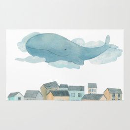 A whale in the sky Rug
