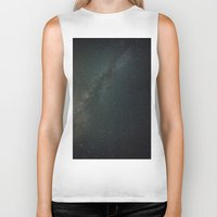 milky way Biker Tanks featuring Milky Way  by Mikography
