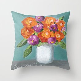 Sunny Day Bouquet Throw Pillow