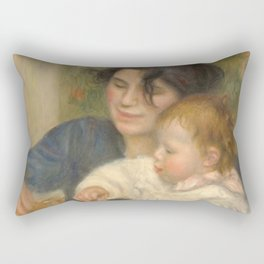 Gabrielle Renard and infant son, Jean Rectangular Pillow