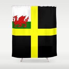 Flag of Saint David Shower Curtain