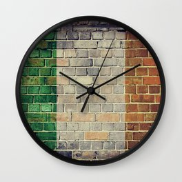 Vintage Ireland flag Wall Clock