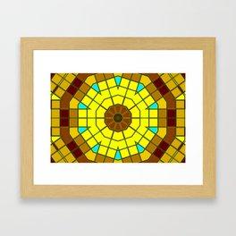 Glass Kaleidoscope Framed Art Print