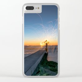 Low Tide Spinning Clear iPhone Case