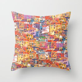 Seamless Cinque Terre Throw Pillow