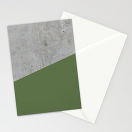 Concrete and Kale Color Stationery Cards