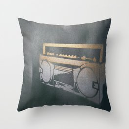 My Beat Goes Boom Again Throw Pillow