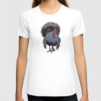 turkey T-shirts featuring wild turkey by Ruud van Koningsbrugge