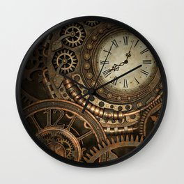 Steampunk Clockwork Wall Clock