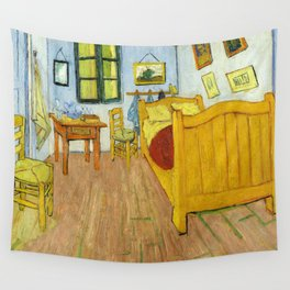 1888-Vincent van Gogh-The Bedroom-72x90 Wall Tapestry