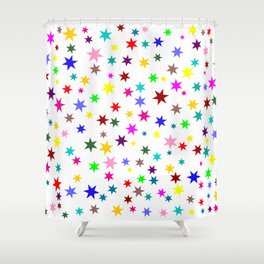 Colorful stars Shower Curtain